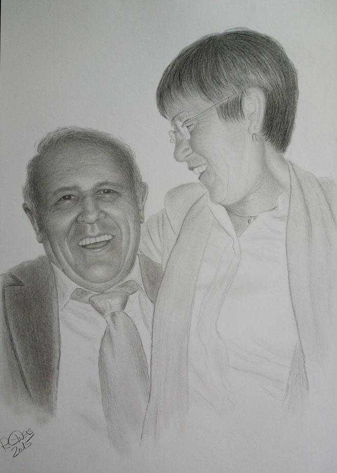 Eltern..., 70x50 cm, Farbstifte auf Zeichenkarton