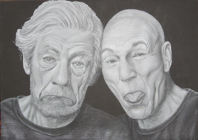 Picard und Pille, 70x50cm