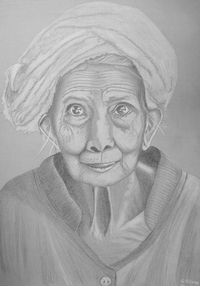Die Lady, 70x50 cm