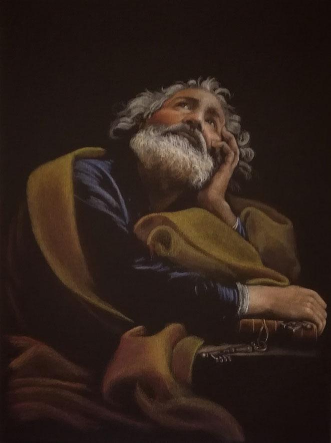 "60x80 cm, meine Interpretation von ""St. Peter..."" Original : Pompeo Batoni, 1708-1787, Italien"