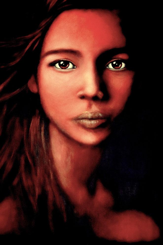 Meine Mona Lisa..., 120x90cm