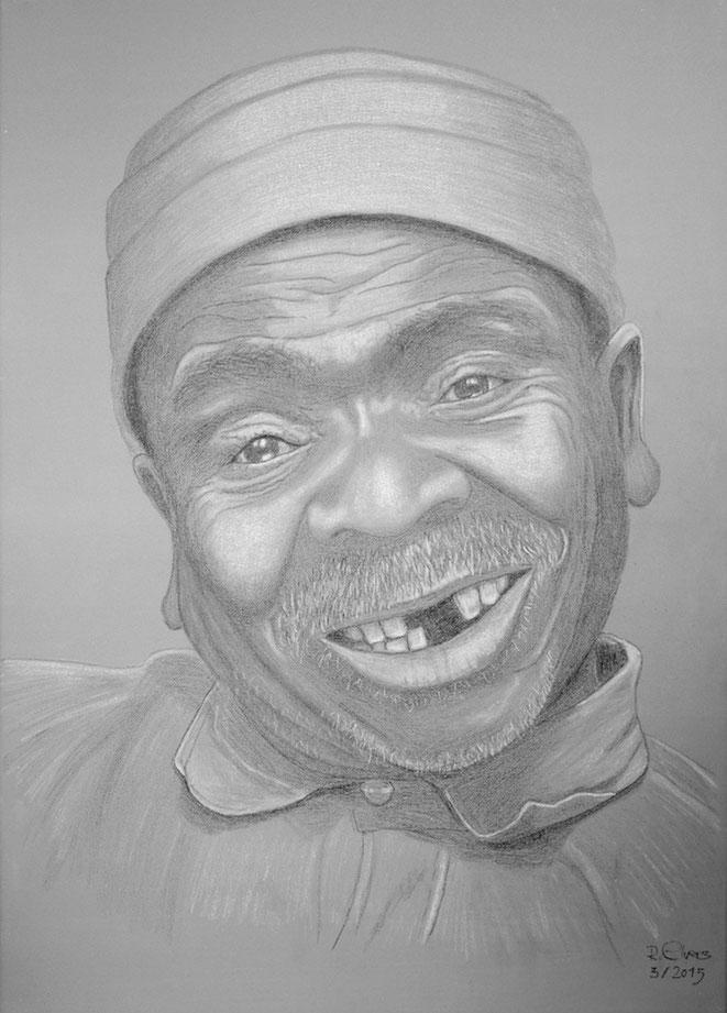 Der Zahnlose, 70x50cm