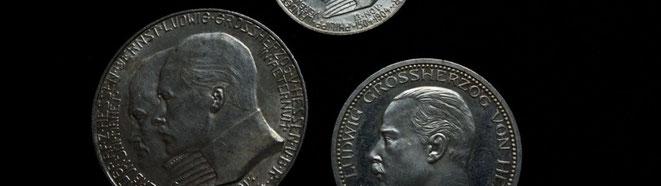 Kaiserreich-Münzen aus Hessen-Darmstadt (2, 3 und 5 Mark)