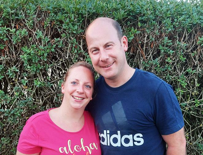 Nadine und Andreas Staudt aus Dickenschied im Rhein-Hunsrück-Kreis. Foto Stiftung kreuznacher diakonie