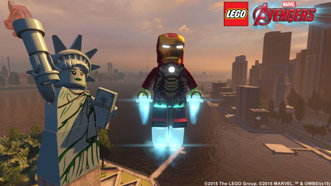 Lego, Marvel, Avengers, Iron Man, New York, Freiheitsstatue, Manhattan