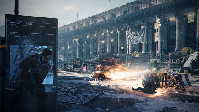 Tom Clancy, The Division, Division, Ubisoft, New York, NYC, Taxi, Dystopie