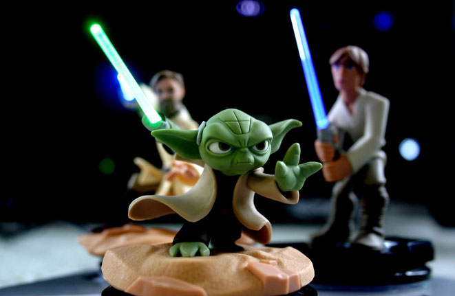 Star Wars, Disney Infinity 3.0, Yoda, Obi Wan Kenobi, Luke Skywalker, Lightsaber, Light FX