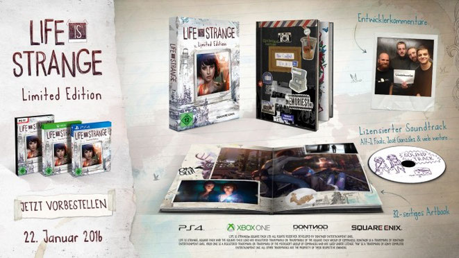 Life is Strange, Limited Edition, Dontnod, Square Enix