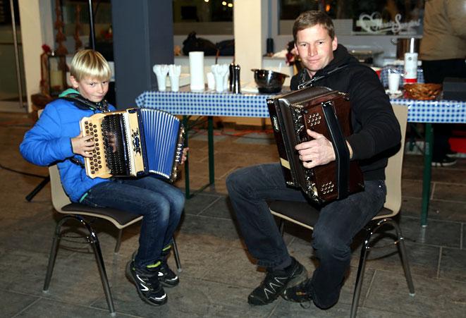 Werner Brandner (Eister - Rottenstein) mit seinem Sohn Patrick