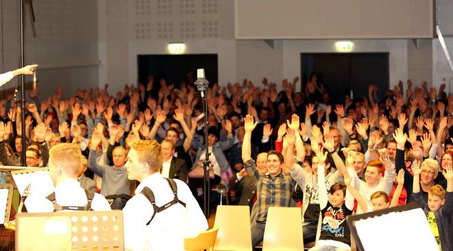 die Begeisterung im Publikum war einfach riesig