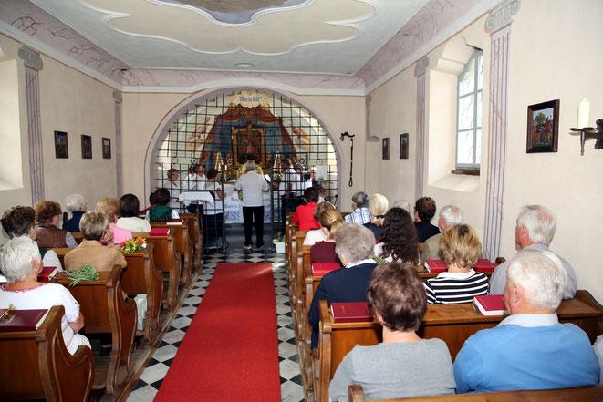 der Pensionisten-Chor Steinfeld bildete die gesangliche Umrahmung des Gottesdienstes