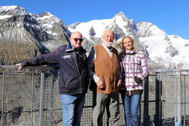 Sepp Forcher (Mitte) mit Sepp Fercher u. Anita Fleischhacker