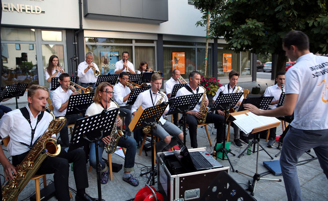 auch die Big Band der TK Steinfeld ist ein Garant für musikalischen Hochgenuss