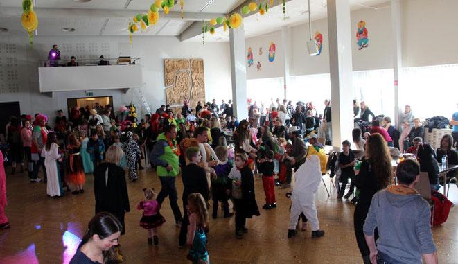 auch der Kinderfasching im Kultursaal war hervorragend besucht