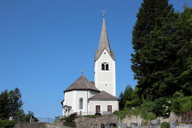 in der Radlacher Kirche, dem Hl. Sankt Martin Geweiht, fand die Hl. Messe statt