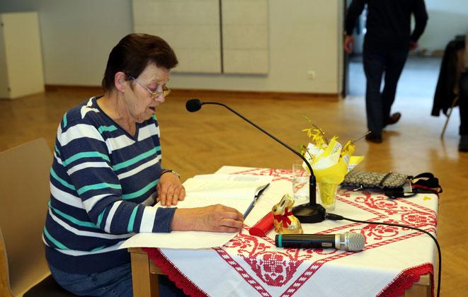 Anni Kolbitsch verbreitete Osterstimmung mit ihren Gedichten