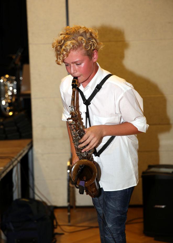 Raffael Ortner begeisterte mit seinem Saxophon