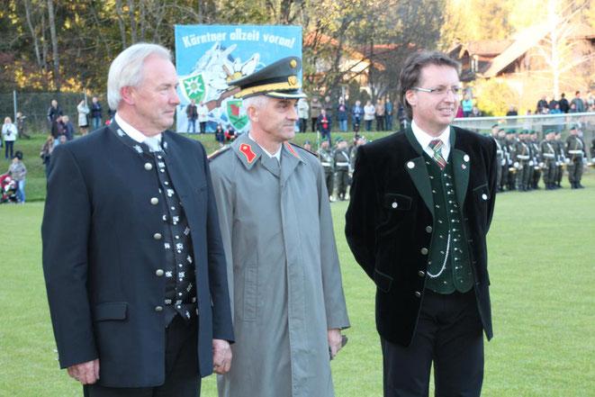 LH G. Dörfler - Militärkommandant  W. Gitschtaler - Bgm. E. Tschabitscher