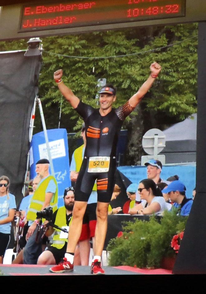 geschafft - Ironman-Zieleinlauf in Klagenfurt