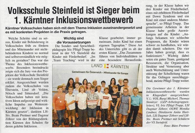 Zeitungsbericht - Oberkärntner Volltreffer - 24. Juni 2019