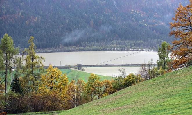 Drau westlich von Steinfeld