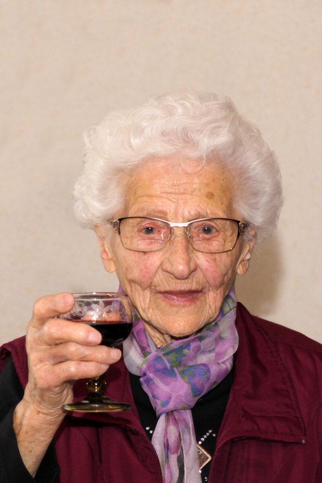 Jubilarin Elisabeth Pranter
