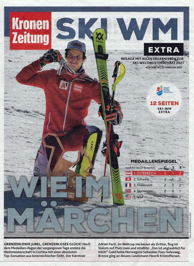 Adrian Pertl - Silber im Slalom - Foto - Kronenzeitung