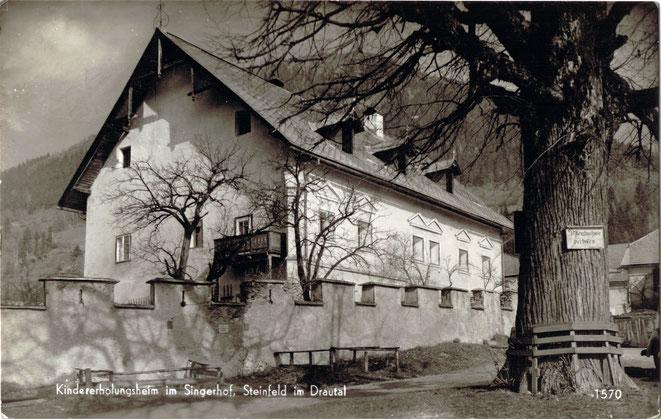der Singerhof im Jahre 1954 als Kindererholungsheim