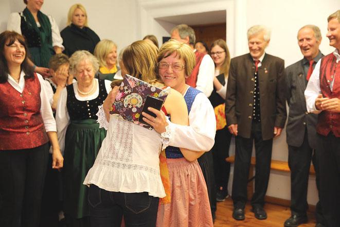 ein kleines Dankeschön von Schwiegertochter Birgit an Christa