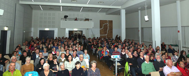 das Publikumsinteresse war enorm