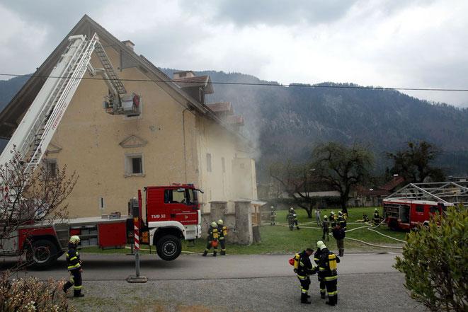 heute dient das Gebäude manchmal für Einsatzübungen der örtlichen Feuerwehren