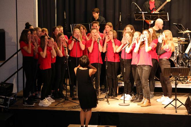 der Chor der 4M der Musikmittelschule Kötschach