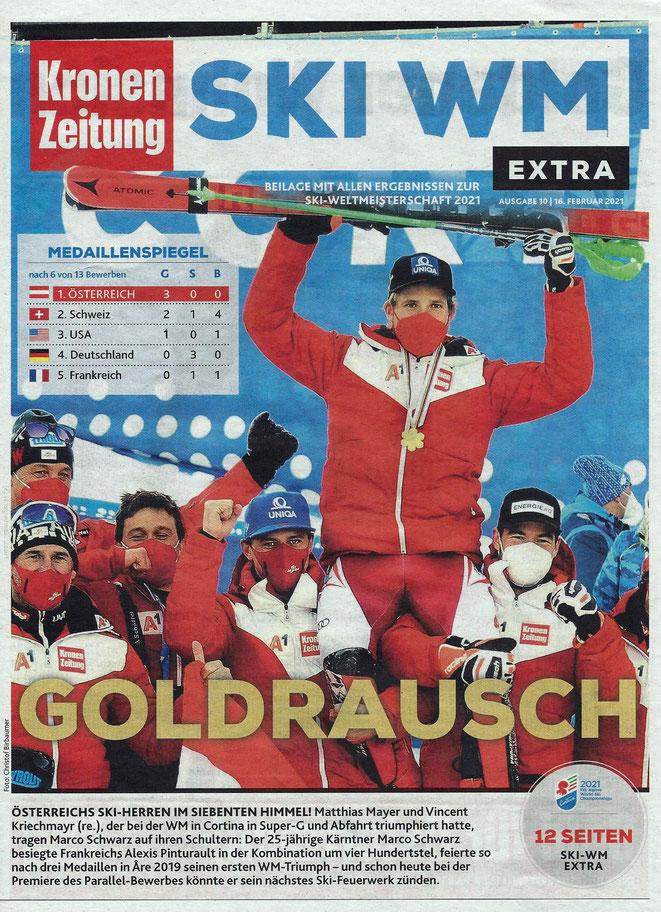 Marco Schwarz - Weltmeister in der Kombination, Bronze im RTL  -  Foto-Kronenzeitung