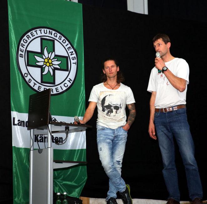 die zwei Extrembergsteiger Rudi Hauser (li) und Lukas Seiwald (re)