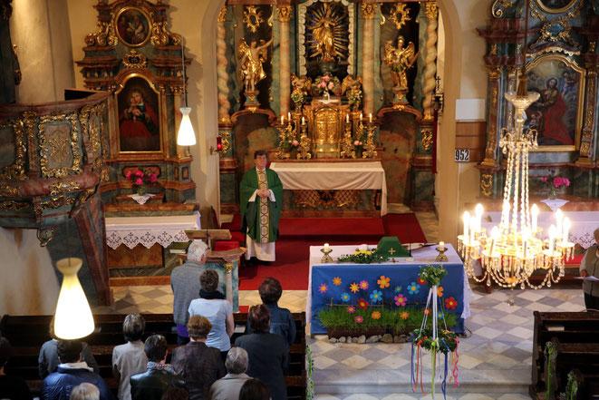 Pfarrer Franz Medryk zelebrierte die Hl. Messe