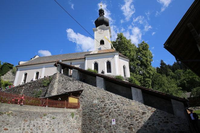 die Pfarrkirche von Greifenburg, geweiht der Hl. Katharina