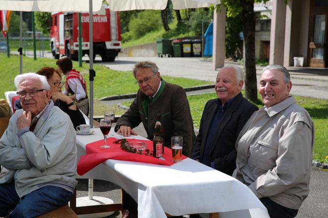 v.li.: R. Durl - Fr. Hubmann - F. Striedner - J. Tschappler - G. Brunner