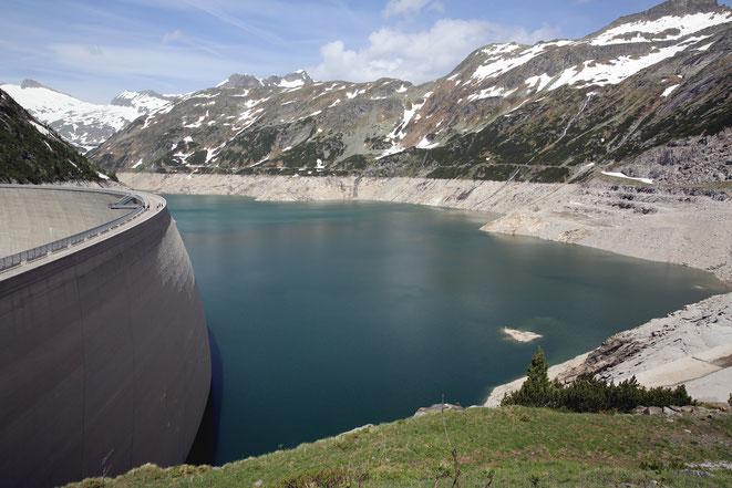 der Wasserspiegel wurde über die Wintermonate drastisch abgesenkt