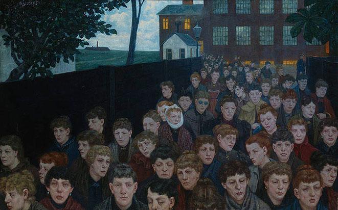 Hans Baluschek, Arbeiterinnen (Proletarierinnen), 1900 Öl auf Leinwand, 120 x 190,5 cm Stiftung Stadtmuseum Berlin
