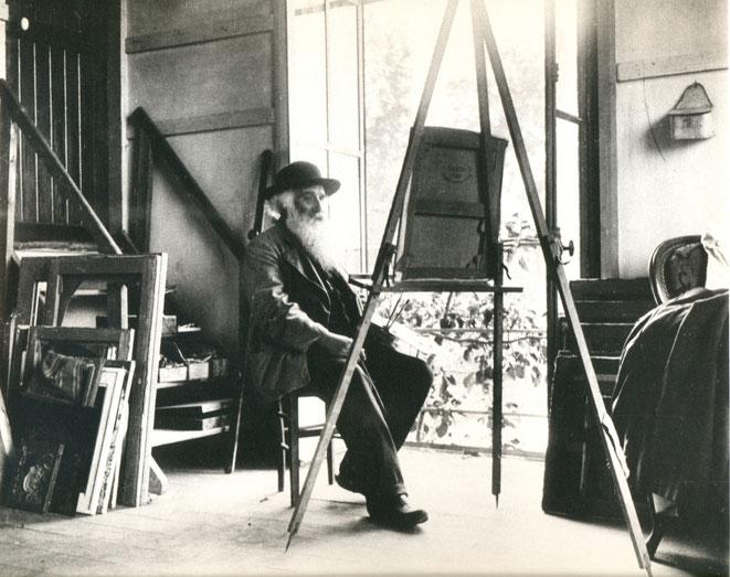 Pissaro in seinem Atelier in Eragny