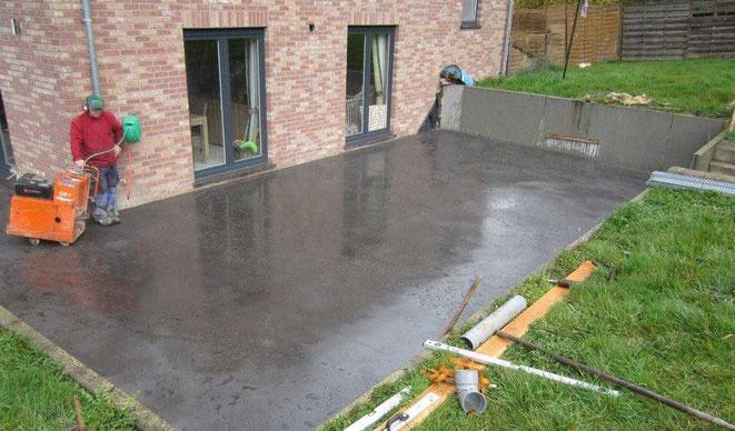 suelo pulido exterior
