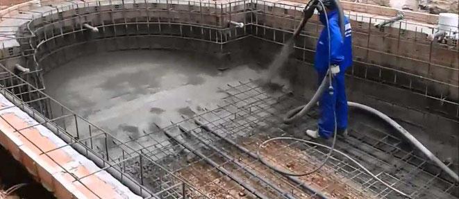 piscinas en Hormigón gunitado