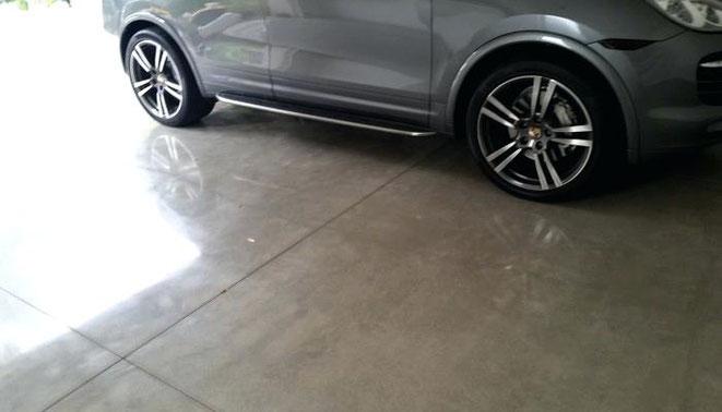 hormigon pulido en garage