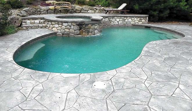 Hormigón impreso para su piscina