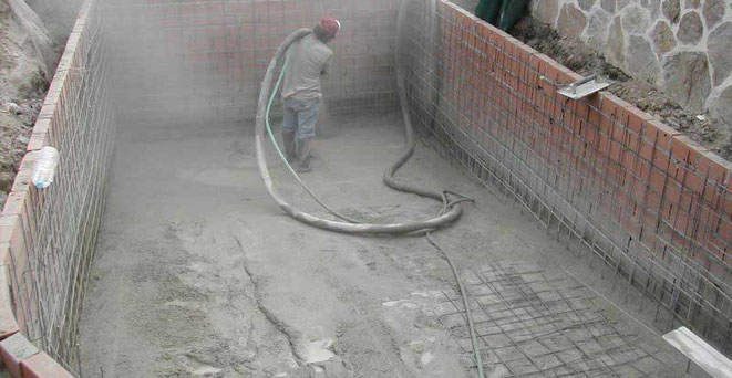 paredes en Hormigón gunitado