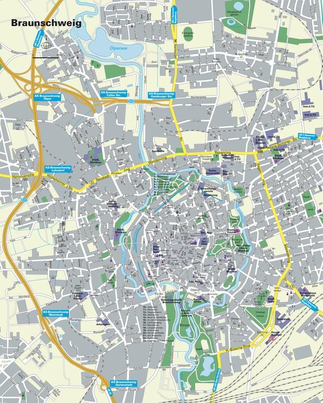 Karte Braunschweig | Privatdetektiv Braunschweig | Wirtschaftsdetektiv Braunschweig