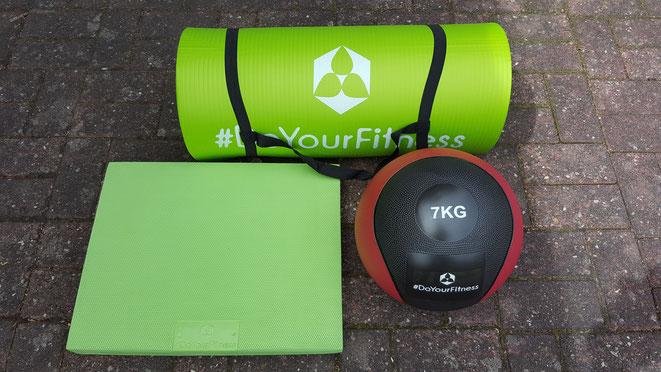 Fitnessmatte, Medizinball, Balancepad