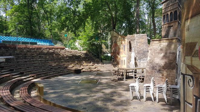"""Amphitheater """"Bierer Berg"""" garantiert gute Sicht von allen Plätzen."""