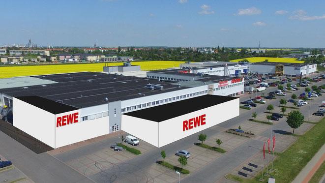 Geplanter REWE Markt im PEP Bernburg