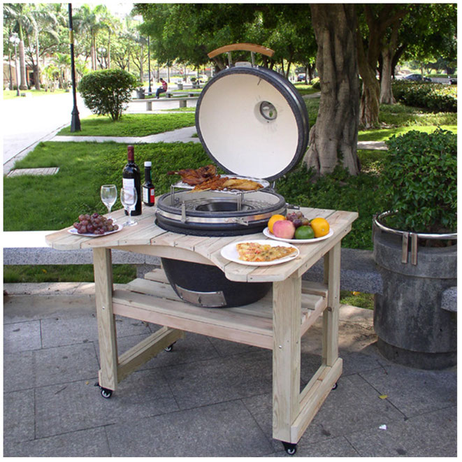 Kamado BBQ Grill with Table